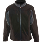 Insulated Softshell Jacket Regular, Black & Charcoal - 3XL