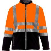 RefrigiWear HiVis Insulated Softshell Jacket, Black/Orange, Class 2, -10°F Comfort Rating, 5XL