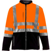 RefrigiWear HiVis Insulated Softshell Jacket, Black/Orange, Class 2, -10°F Comfort Rating, L