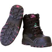 RefrigiWear Women's Vegas Leather Boots, Black, Size 8, 1 Pair