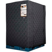 """RefrigiWear RW Protect Insulated Pallet Cover, 48""""L x 40""""W x 60""""H, Black"""