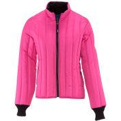 RefrigiWear® Women's Vertical Puffer Jacket, Plum, 20° Comfort Rating, 3XL, 5423RPLM3XL