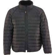 RefrigiWear® Horizontal Puffer Jacket, Black, 20° Comfort Rating, Medium, 5450RBLKMED