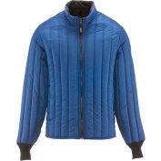 RefrigiWear® Vertical Puffer Jacket, Blue,  20° Comfort Rating, 2XL, 5455RBLU2XL