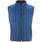 RefrigiWear® Vertical Puffer Vest, Blue, 20° Comfort Rating, Small, 5499RBLUSML