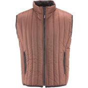 RefrigiWear® Vertical Puffer Vest, Brown, 20° Comfort Rating, Small, 5499RBRNSML