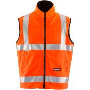 RefrigiWear HiVis Reversible Softshell Vest, Orange/Black, Class 2, 20° Comfort Rating, 2XL