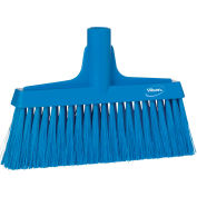 "Vikan 31043 10"" Upright Broom- Soft/Stiff, Blue"