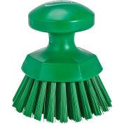 Vikan 38852 Round Hand Brush- Stiff, Green