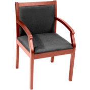 Regent Wood and Fabric Side Chair - Cherry/Black