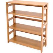 34x30 Flip Flop Bookcase - Medium Oak