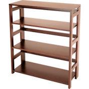 34x30 Flip Flop Bookcase - Mocha Walnut