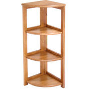 34x12 Corner Flip Flop Bookcase - Medium Oak
