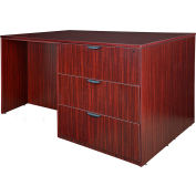 Regency Stand Up 2 Lateral File - 2 Desk Quad - Mahogany - Legacy Series