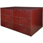 Regency Stand Up 2 Lateral File - Storage Cabinet - Desk Quad - Mahogany - Legacy Series