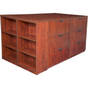 Regency Stand Up 2 Lateral File - Storage Cabinet - Desk Quad - Bookcase - Cherry - Legacy Series