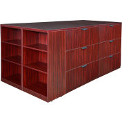 Regency Stand Up 2 Lateral File - Storage Cabinet - Desk Quad - Bookcase - Mahogany - Legacy Series