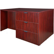 Regency Stand Up Lateral File - 3 Desk Quad - Mahogany - Legacy Series