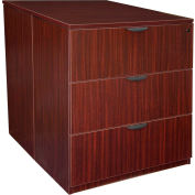 Regency Stand Up Back-to-Back Lateral File and Desk - Mahogany - Legacy Series