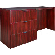 Regency Stand Up Side-to-Side Lateral File and Desk - Mahogany - Legacy Series