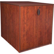 Regency Stand Up Back-to-Back Storage Cabinet and Desk - Cherry - Legacy Series