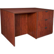 Regency Stand Up Desk - 3 Lateral File Quad - Cherry - Legacy Series