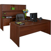 Regency Seating Sandia Series Bow Front U-Shaped Desk w/Hutch - Java