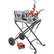 Model 300 Compact Kit Power Threading Machines, RIDGID 67182 w/ 250 Folding Wheel Stand