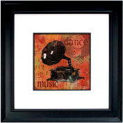 "Crystal Art Gallery - Dance To The Music - 26""W x 26""H, Double Mat Framed Art"