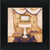 "Crystal Art Gallery - Purple Passion Sink 1 - 16""W x 16""H, Straight Fit Framed"