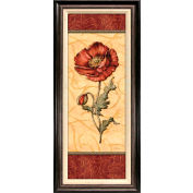 "Crystal Art Gallery - Red Passion Pavot - 18-1/2""W x 42-1/2""H, Linen Liner Framed"