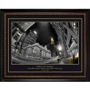 "Crystal Art Gallery - Trump City Swirl - 24""W x 20""H, Straight Fit Framed"