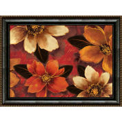 "Crystal Art Gallery - Framed Canvas w/Foil Mona Lisa Floral - 40""W x 30""H, Straight Fit Framed"
