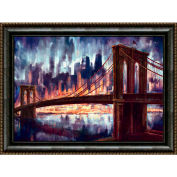 "Crystal Art Gallery - Framed Canvas w/Foil Brook - 40""W x 30""H, Straight Fit Framed"