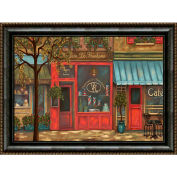 "Crystal Art Gallery - framed canvas w/Foil Landscape Paint - 40""W x 30""H, Straight Fit Framed"