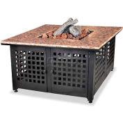 "Uniflame® 41-3/16"" Square Outdoor Firebowl With Granite Mantel - 40000 BTU, Propane Gas"
