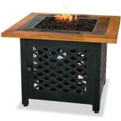 Uniflame® Propane Gas Outdoor Firebowl Slate And Faux Wood Mantel GAD1391SP