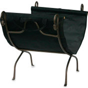 UniFlame® Log Rack W-1617 With Canvas Carrier Bronze Wrought Iron Finish