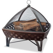 UniFlame® Outdoor Firebowl With Lattice WAD1401SP, Square Shaped,  Oil Rubbed Bronze