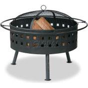 "Uniflame® 30"" Diameter Round Aged Bronze Outdoor Firebowl With Lattice Design"