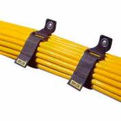 "Rip-Tie, 2"" x 18"" CinchStrap, O-18-010-BN, Brown, 10 Pack"