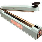 "Sealer Sales KF Series 16"" Hand Impulse Sealer w/ Sliding Cutter, 5mm Seal Width"