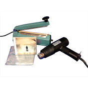 "Sealer Sales SWK-8-04CD Shrink Wrapping Kit w/ 500 CD Sized Shrink Bags, 8"" Sealer & Heat Gun"