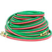 """Reelcraft 601031-25 1/4""""x25' 200 PSI T-Grade Twin Welding MAPP/Propane/Natural Gas Hose Assembly"""