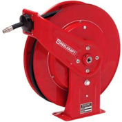 """Reelcraft 7450 OHP 1/4""""x50' 5000 PSI Heavy Duty Spring Retractable High Pressure Grease Hose Reel"""