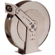 "Reelcraft 82000 OLS 1/2""x100' 500 PSI Stainless Steel Spring Retractable Low Pressure Hose Reel"