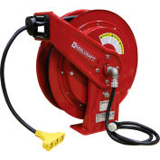 Reelcraft L 70075 123 9, 12 AWG / 3 Conductor x 75ft, 15 AMP, Tri-tap Outlet (5-15R) with Cord