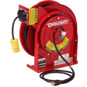 Reelcraft L 4545 123 3 12 AWG / 3 Cond  x 45ft, 15 AMP, Single Outlet, with Cord, 27 lbs