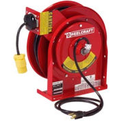 Reelcraft L 4545 123 3B 12 AWG / 3 Cond  x 45ft, 20 AMP, Single Outlet, with Cord, 435 lbs