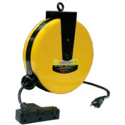 Reelcraft LD2030 163 9 16 AWG / 3 Cond  x 30ft, 10 AMP, Triple Outlet, with Cord